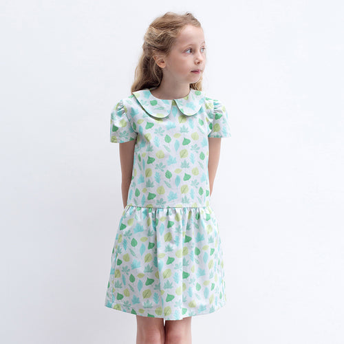 Forest Leaf Peter Pan Dress - Well Grounded Co