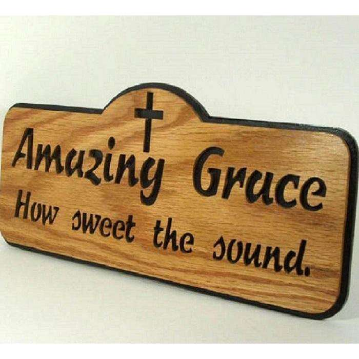 Amazing Grace Wooden Handcrafted Wall Hangings, Wooden Wall Hangings,In God's Service Store