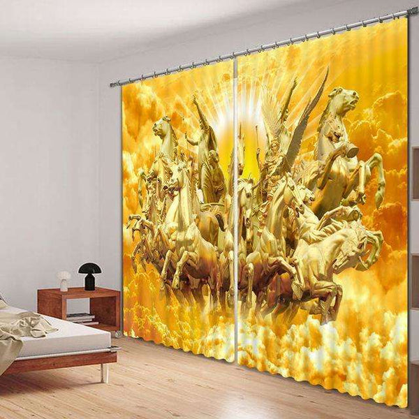 Angel Army 3D Window Curtains, Curtains,In God's Service Store