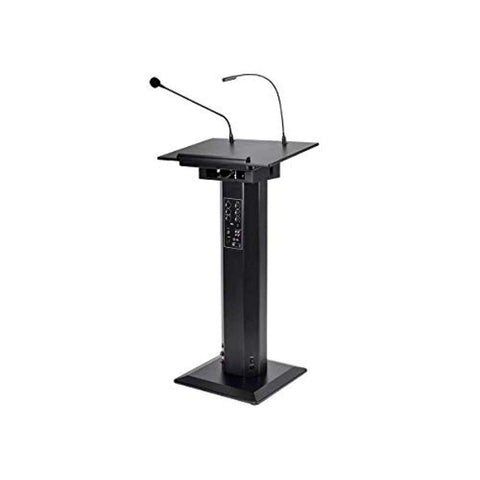 Audio 60W Powered Lectern with Gooseneck Mic and LED Light, Audio 60W Powered Lectern with Gooseneck Microphone and LED Light,In God's Service Store