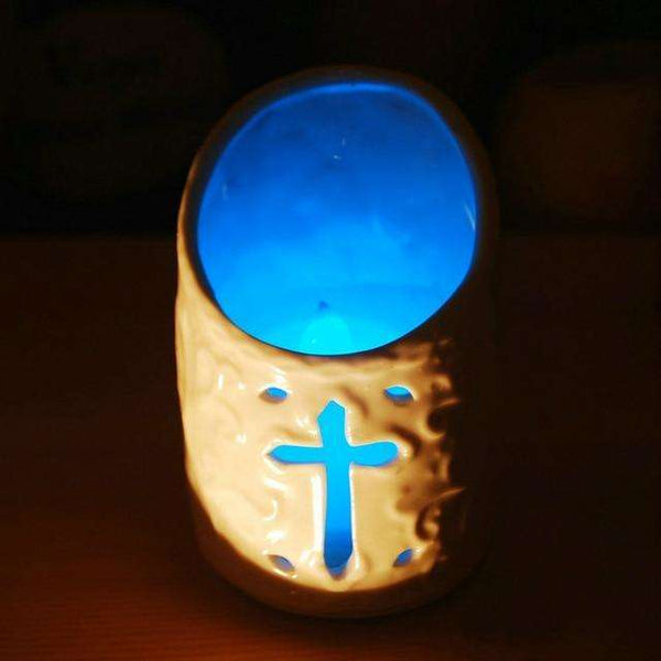 Christian Cross and Angel LED Candle Holders, LED Candle Holders,In God's Service Store