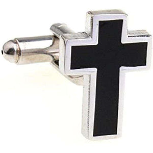 Christian Cross Cufflinks Set, Cufflinks,In God's Service Store