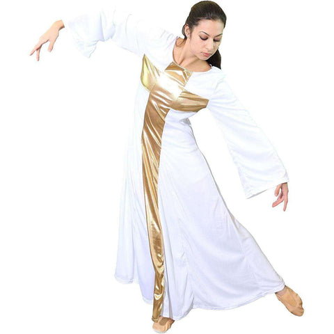 Cross Design Praise Dance Dress, Cross Design Praise Dance Dress,In God's Service Store