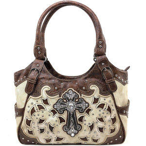 Cross Studded Western Design Concealed Carry Handbags, Cross Studded Western Design Concealed Carry Handbags,In God's Service Store