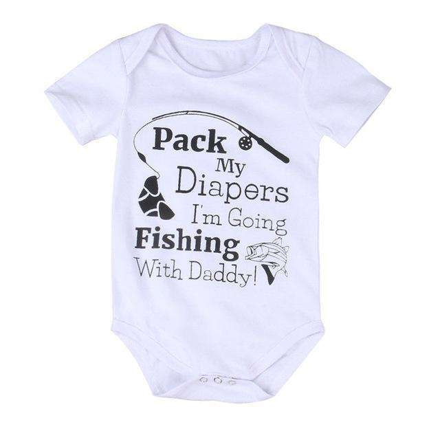 Going Fishing With Daddy Baby Onesie, Baby - Toddler Onesies,In God's Service Store