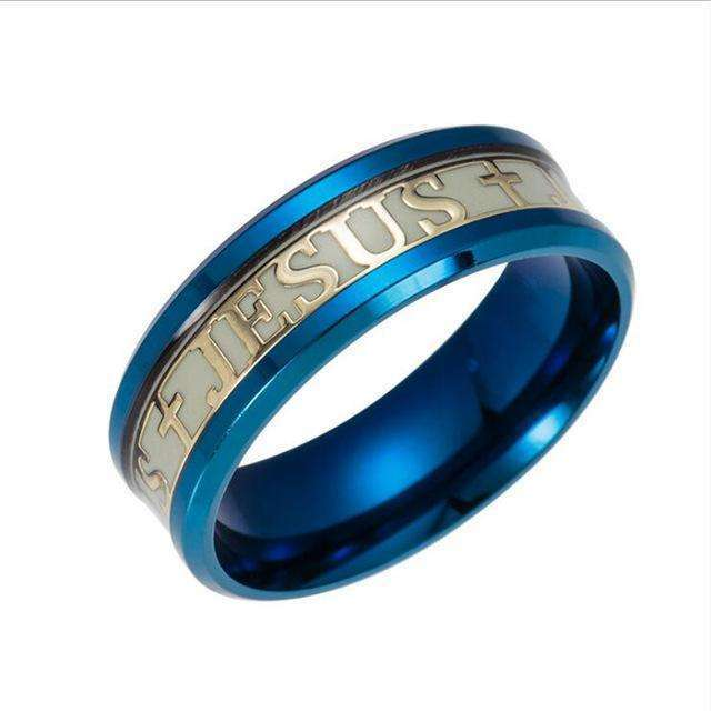Inspirational Glow In The Dark Jesus Rings, Rings,In God's Service Store
