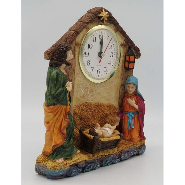 Inspirational Nativity Desk Clock, Desk Clocks,In God's Service Store