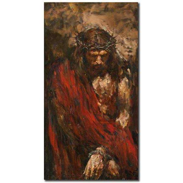 Jesus Christ Abstract Canvas Oil Painting, Canvas Oil Paintings, Pictures and Prints,In God's Service Store