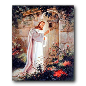 Jesus Knocking at The Door Art Print Poster, Christian Print Posters,In God's Service Store