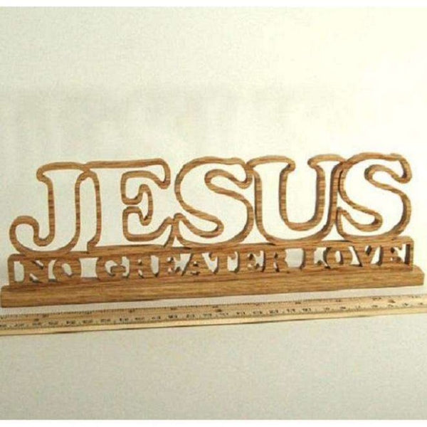 Jesus No Greater Love Table Top Accent Piece, Wooden Table Top Decor,In God's Service Store