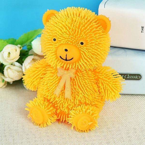 Light Up LED Textured Teddy Bear Stimming Toys, Teddy Bear Stimming Toy,In God's Service Store