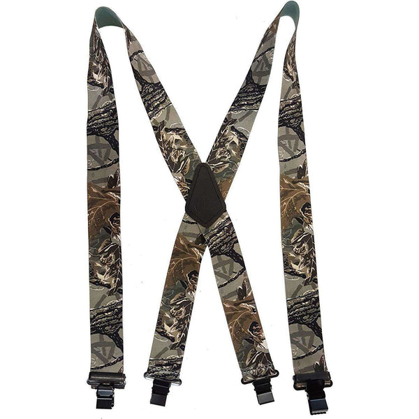 Men's Jesus Fish & Multi Outdoor Pattern Suspenders, Men's Suspenders,In God's Service Store