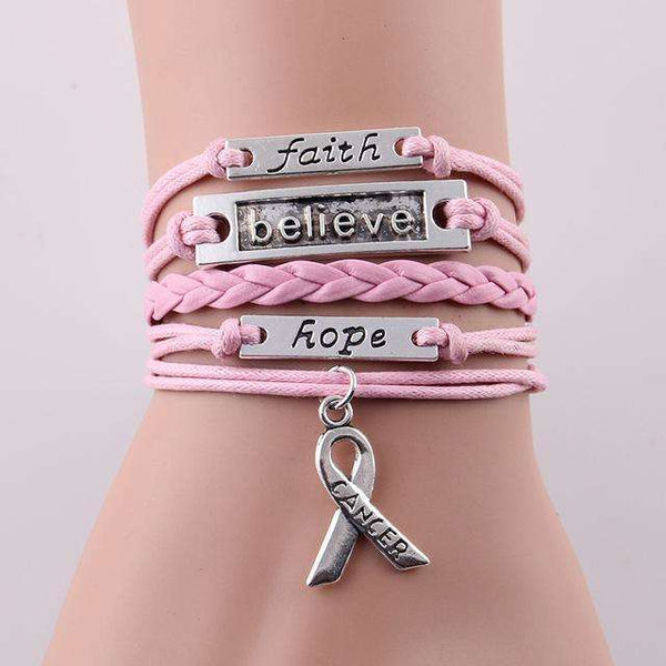 Multi-layer Inspirational Cancer Awareness Hope Bracelet, Bracelets,In God's Service Store