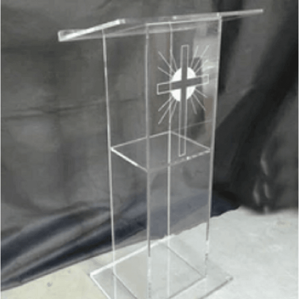 Sunlight Cross Acrylic Pulpit, Pulpits,In God's Service Store
