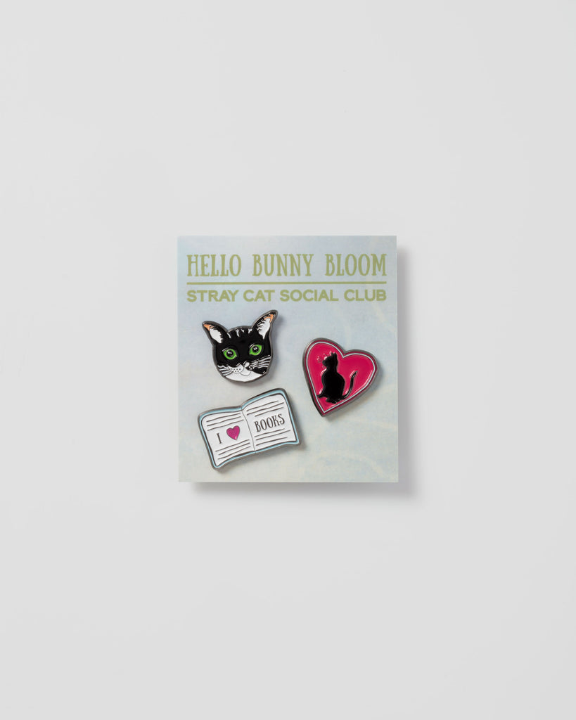 Hello Bunny Bloom x Stray Cat Social Club Pin Set