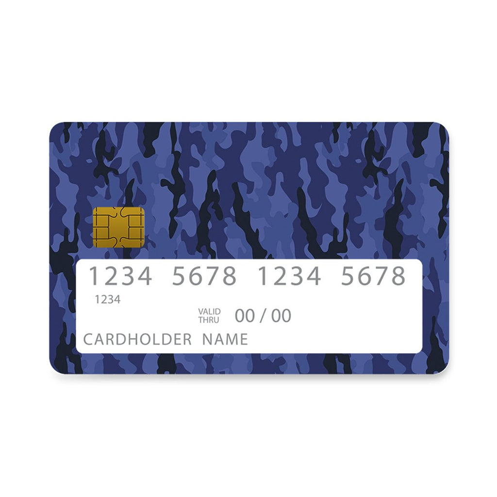 74 - Bank Card  Blue Camo case, cover, bumper