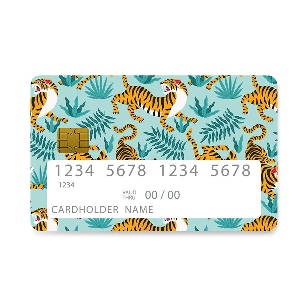 99 - Bank Card  Designer Blue Tigers case, cover, bumper