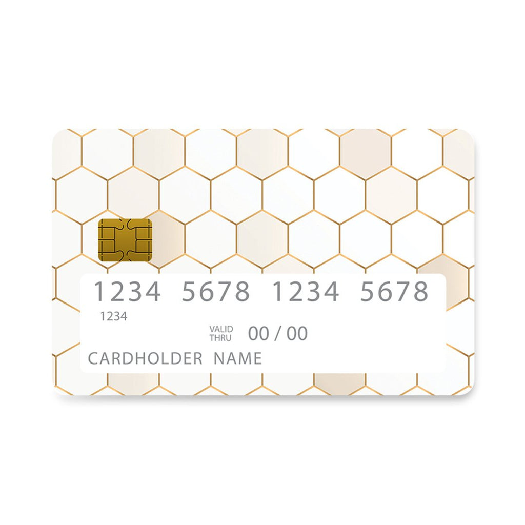 4 - Bank Card Hexagonal Gold Geometric case, cover, bumper
