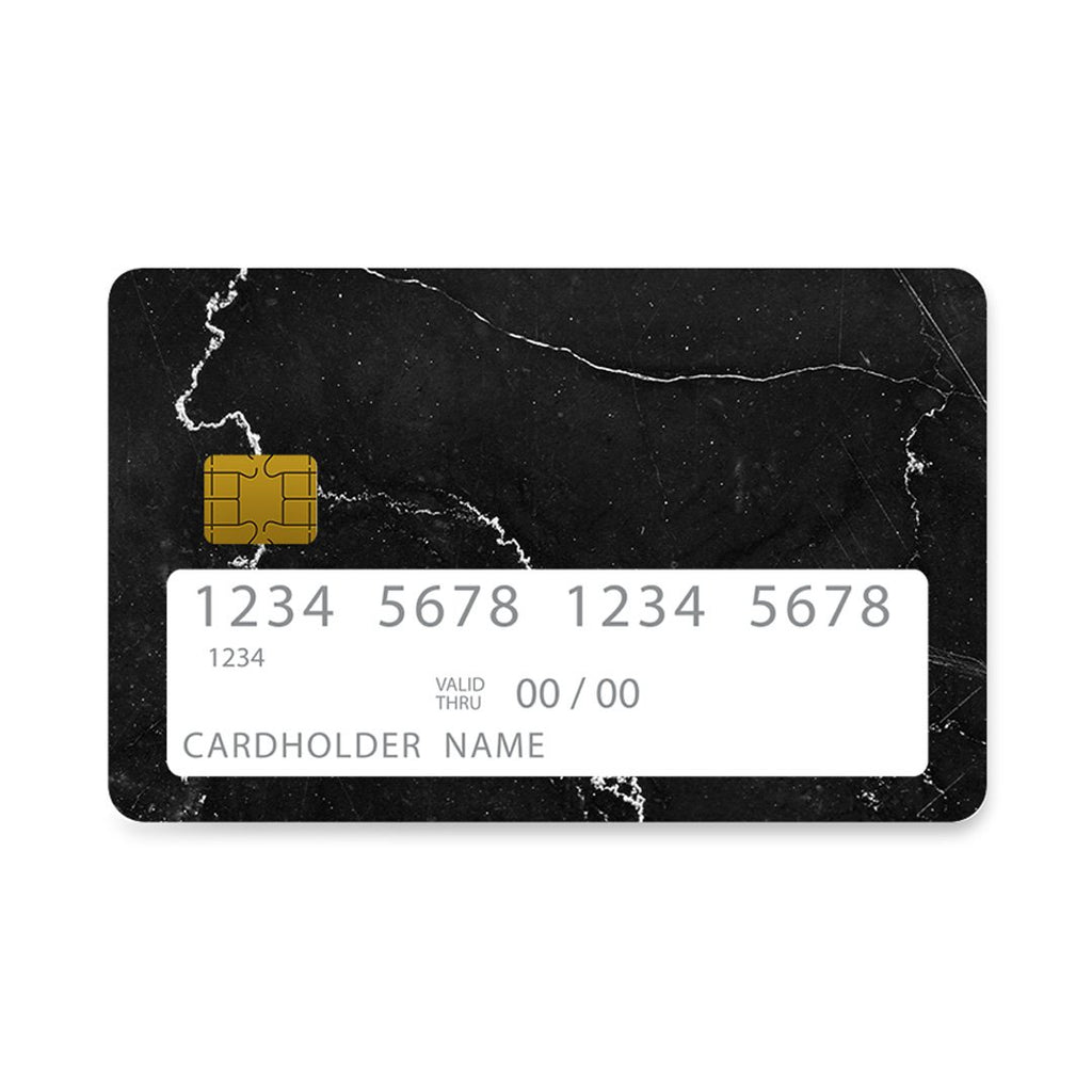 1 - Bank Card  black marble case, cover, bumper