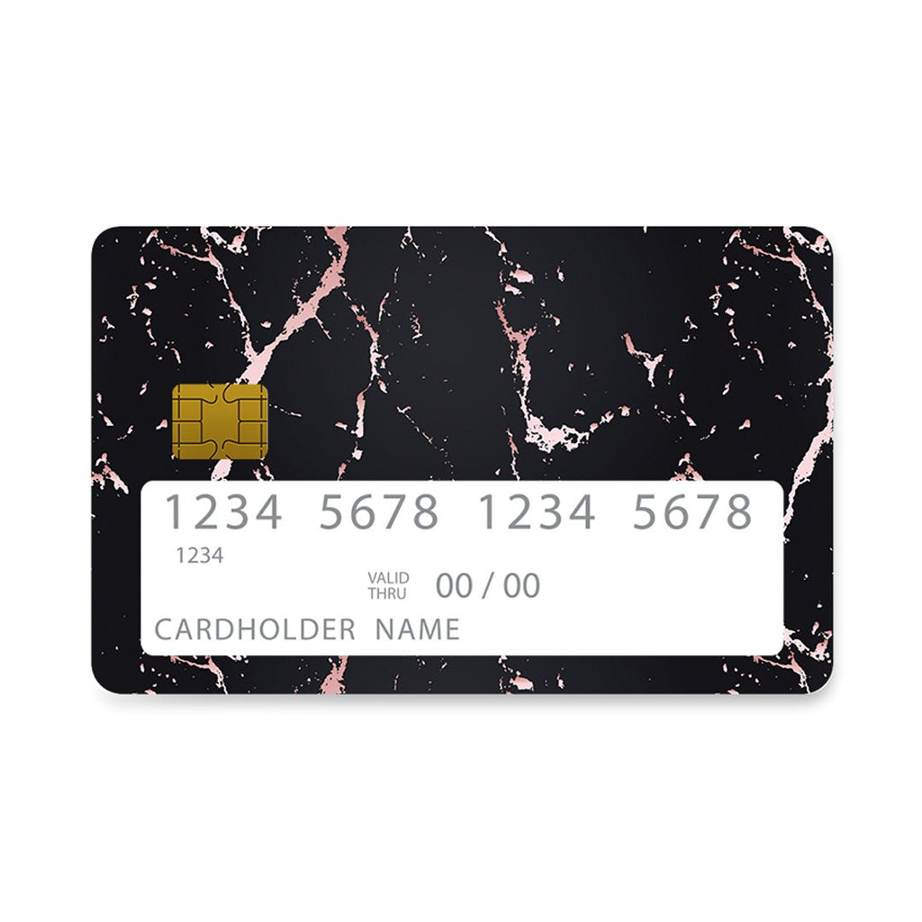 4 - Bank Card  Black Rosegold Marble case, cover, bumper