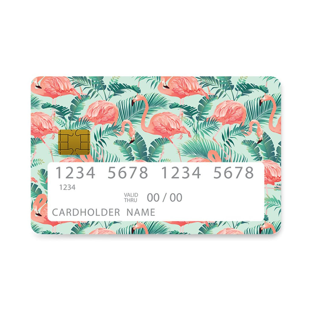 129 - Bank Card  Flamingo Green Tropic case, cover, bumper
