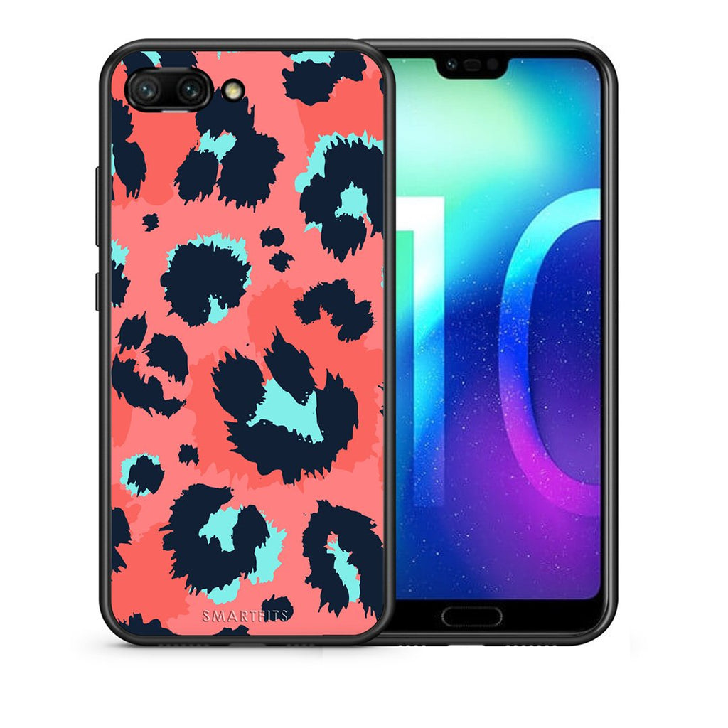 22 - Huawei Honor 10 Pink Leopard Animal case, cover, bumper
