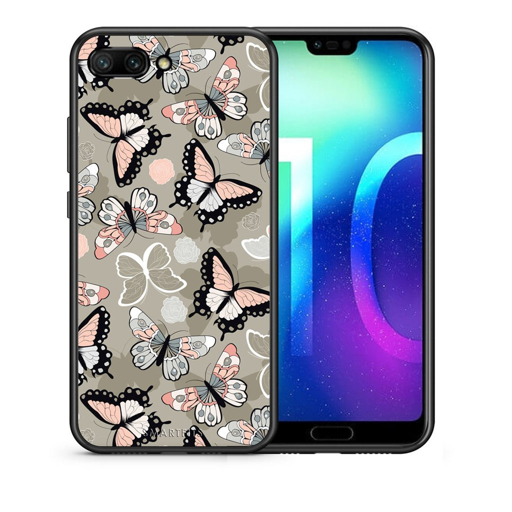 135 - Huawei Honor 10 Butterflies Boho case, cover, bumper