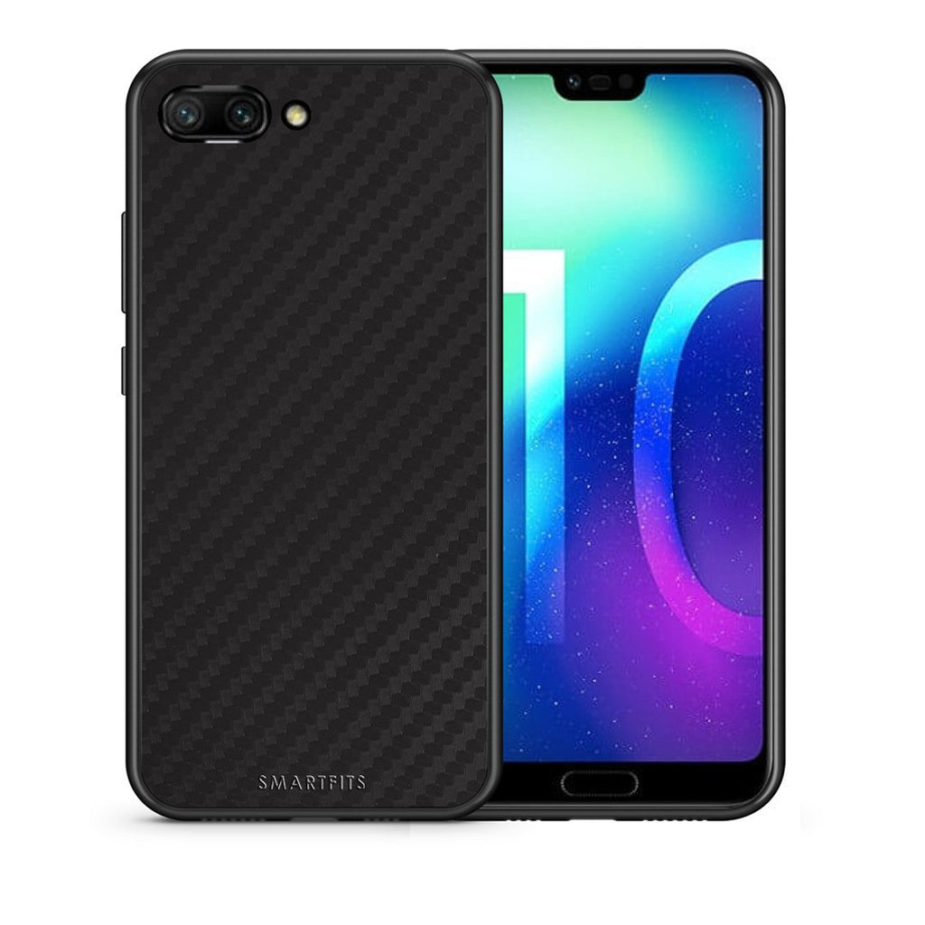 0 - Huawei Honor 10 Black Carbon case, cover, bumper