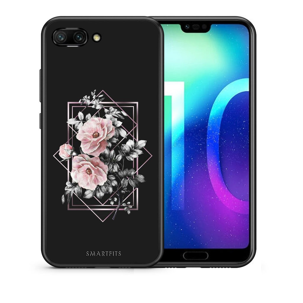 4 - Huawei Honor 10 Frame Flower case, cover, bumper