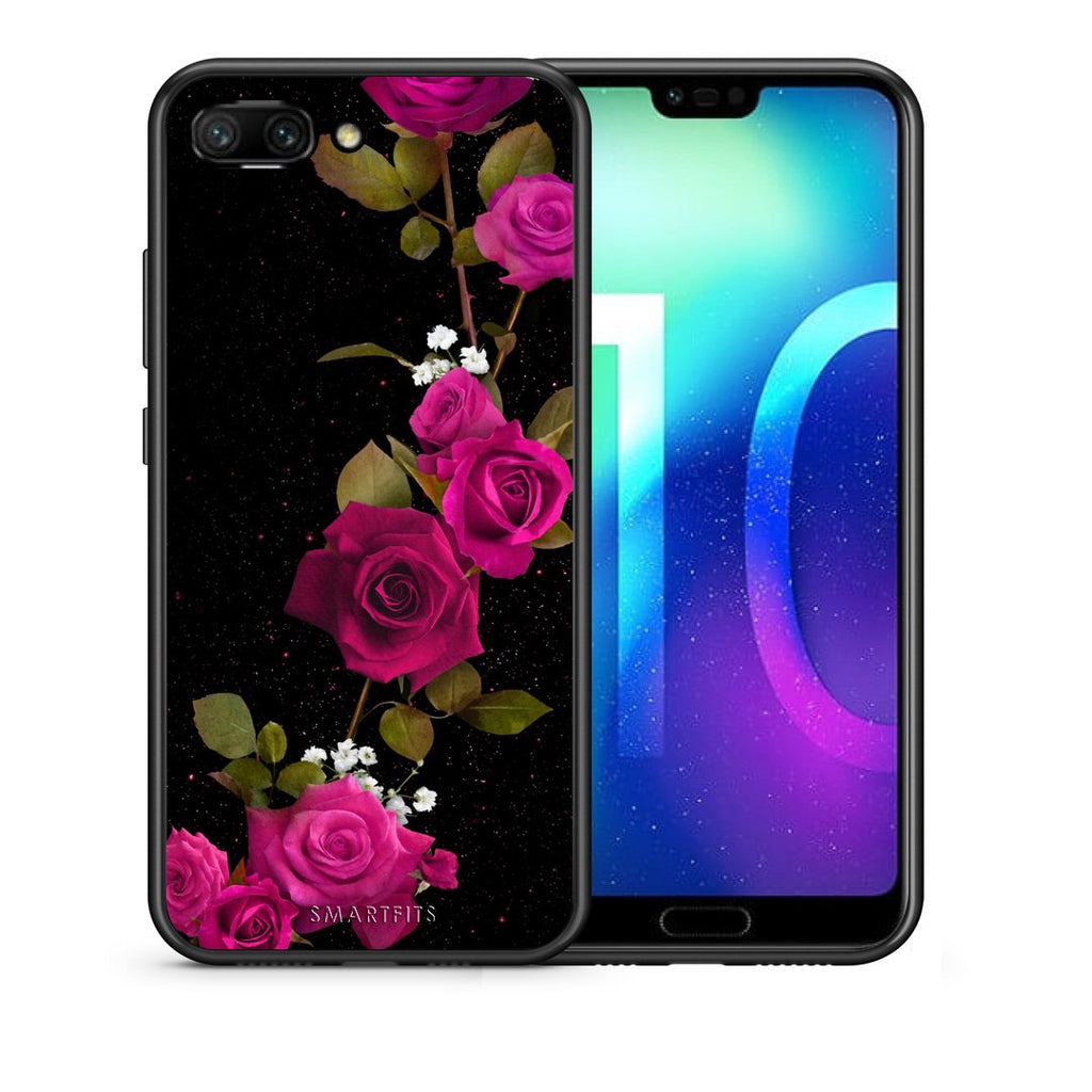 4 - Huawei Honor 10 Red Roses Flower case, cover, bumper