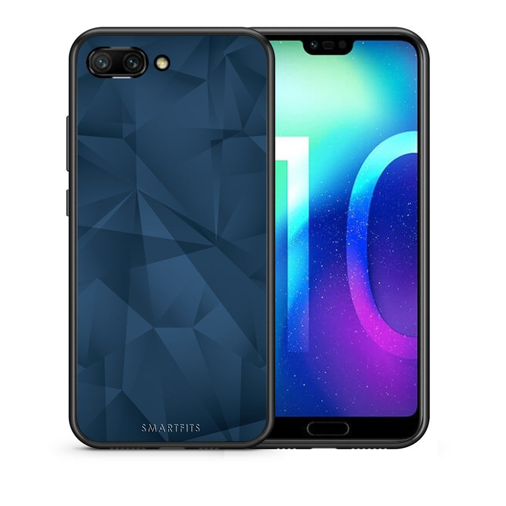 39 - Huawei Honor 10 Blue Abstract Geometric case, cover, bumper