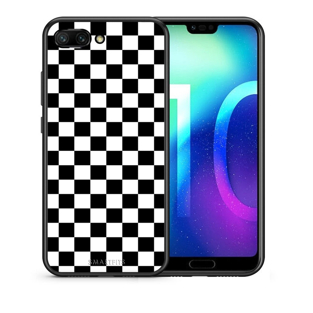 4 - Huawei Honor 10 Squares Geometric case, cover, bumper