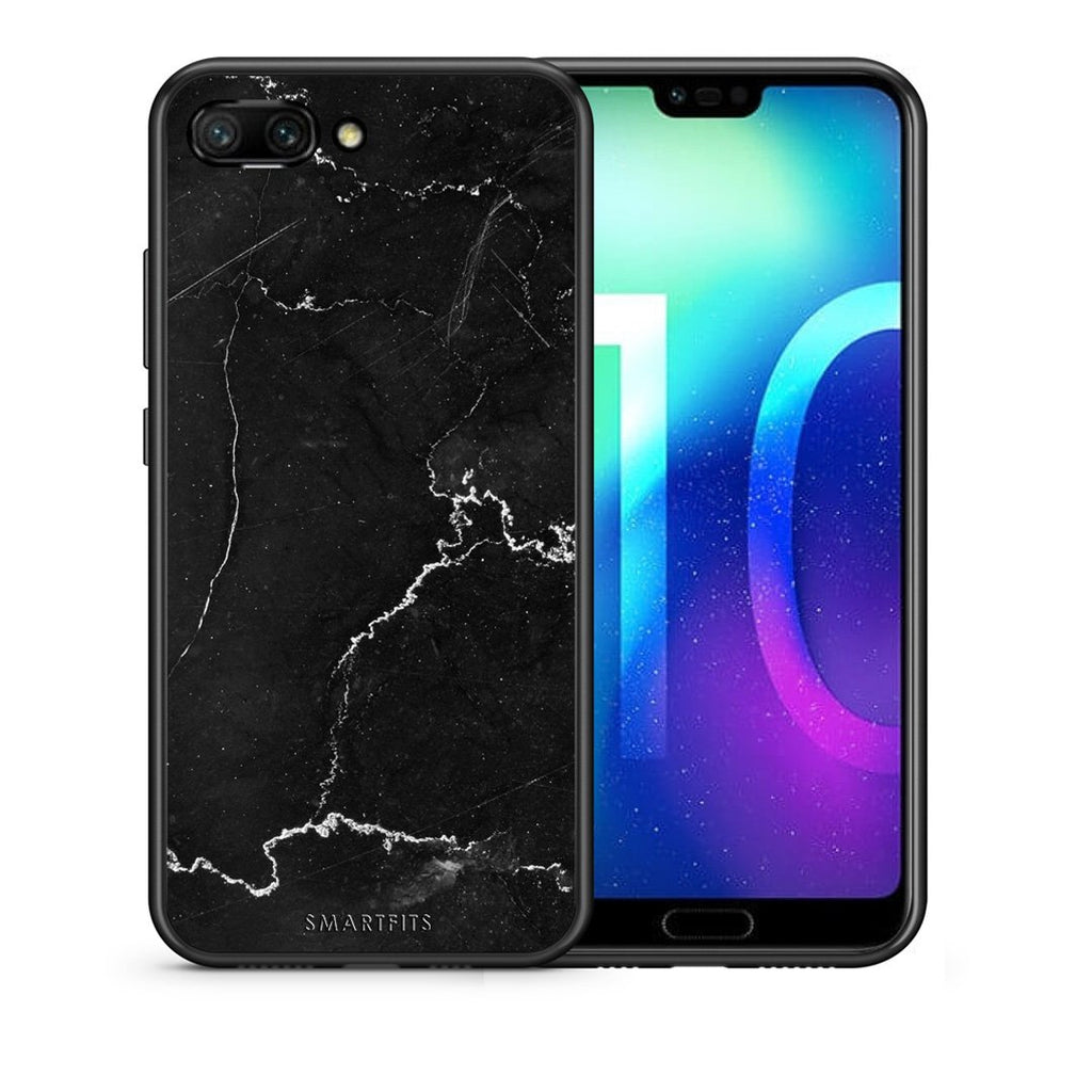1 - Huawei Honor 10 black marble case, cover, bumper