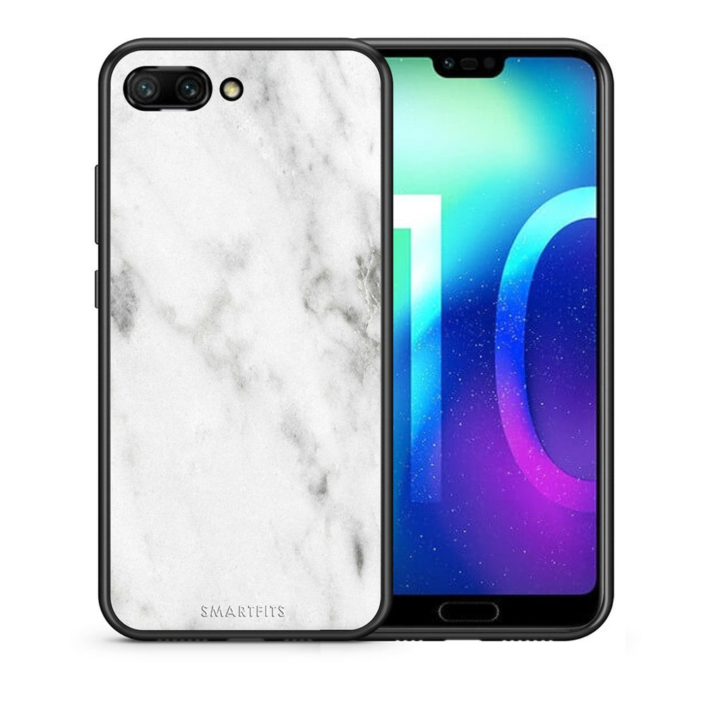 2 - Huawei Honor 10 White marble case, cover, bumper
