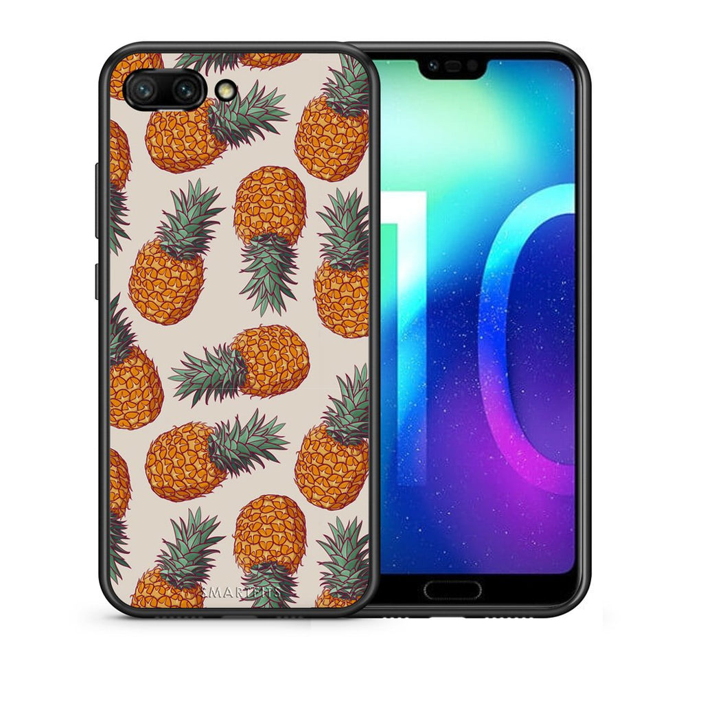 99 - Huawei Honor 10 Summer Real Pineapples case, cover, bumper