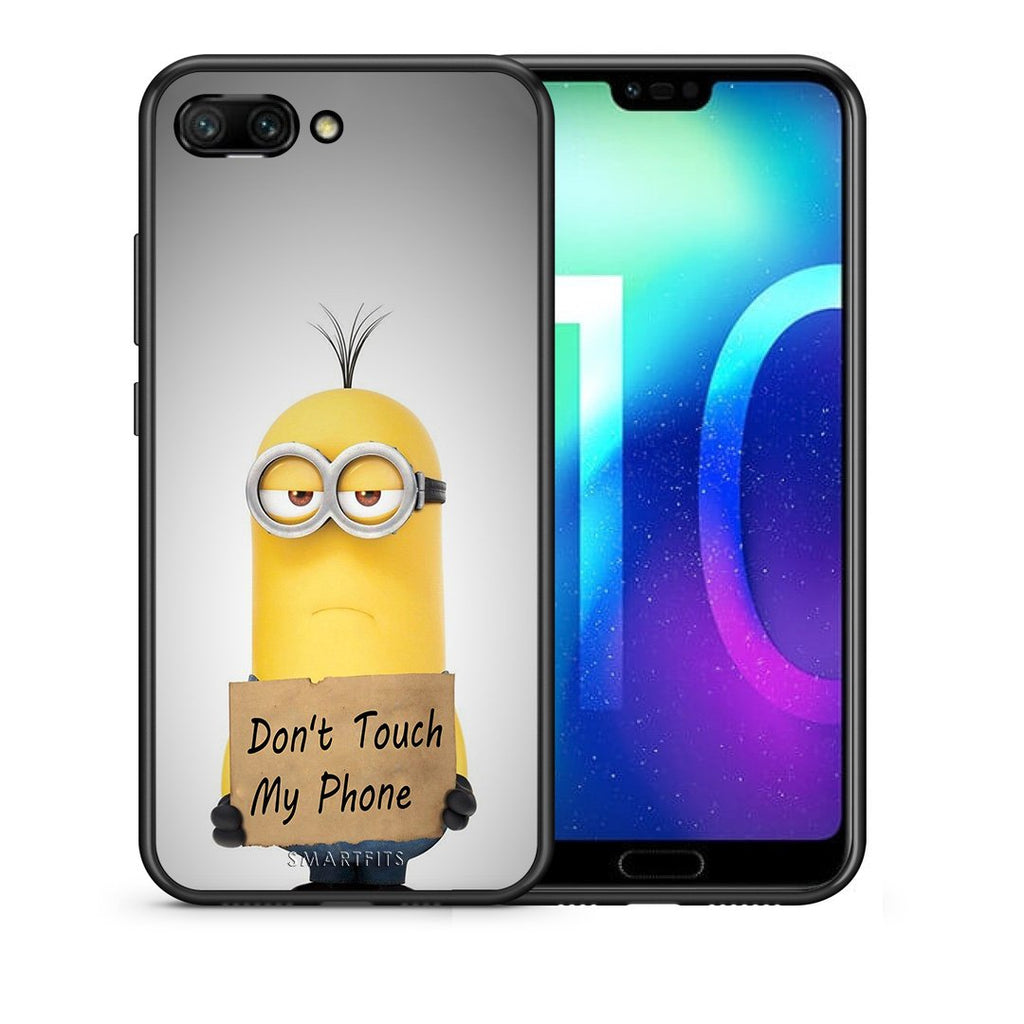 4 - Huawei Honor 10 Minion Text case, cover, bumper
