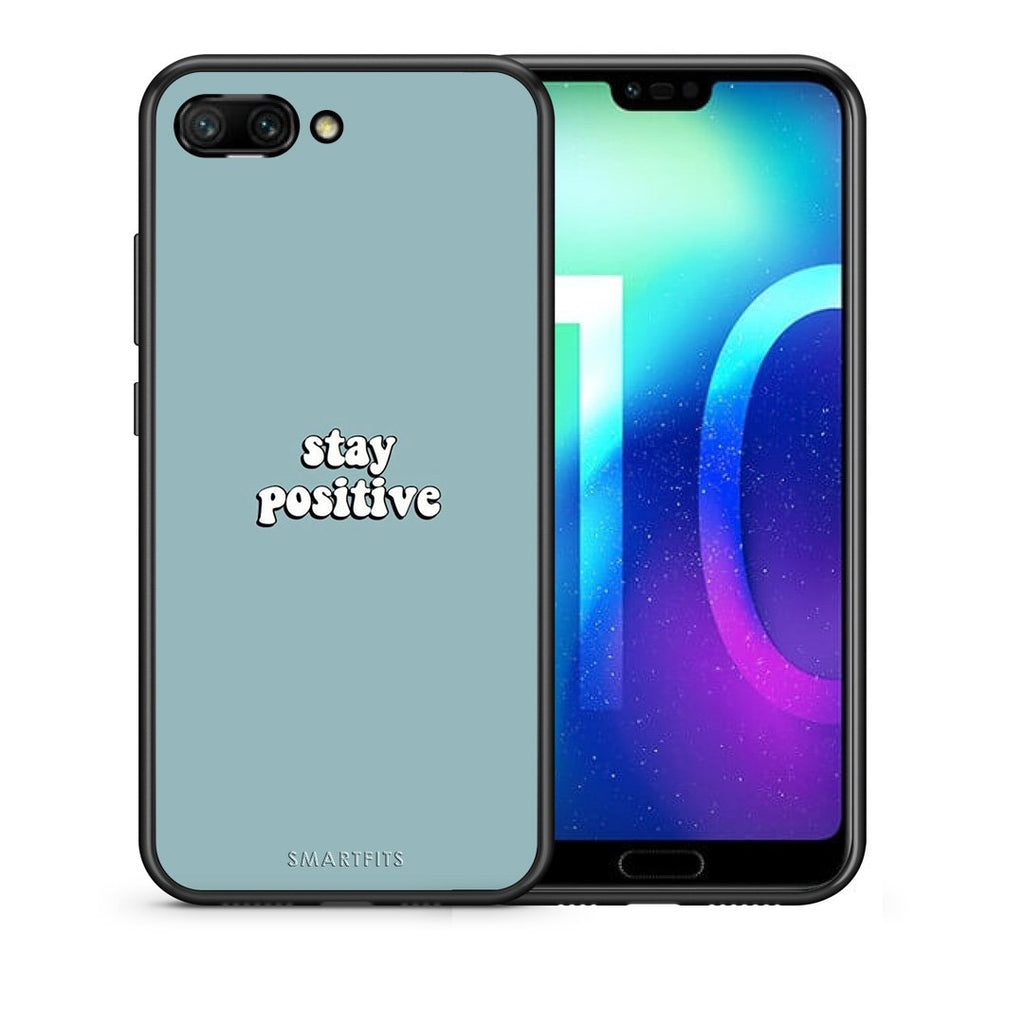 4 - Huawei Honor 10 Positive Text case, cover, bumper