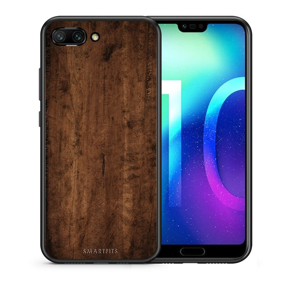 84 - Huawei Honor 10 Dark Wood case, cover, bumper