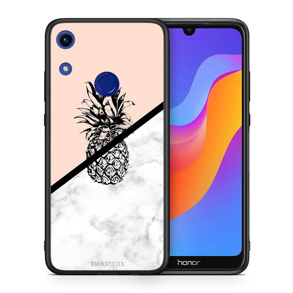 4 - Huawei Honor 8A Pineapple Marble case, cover, bumper