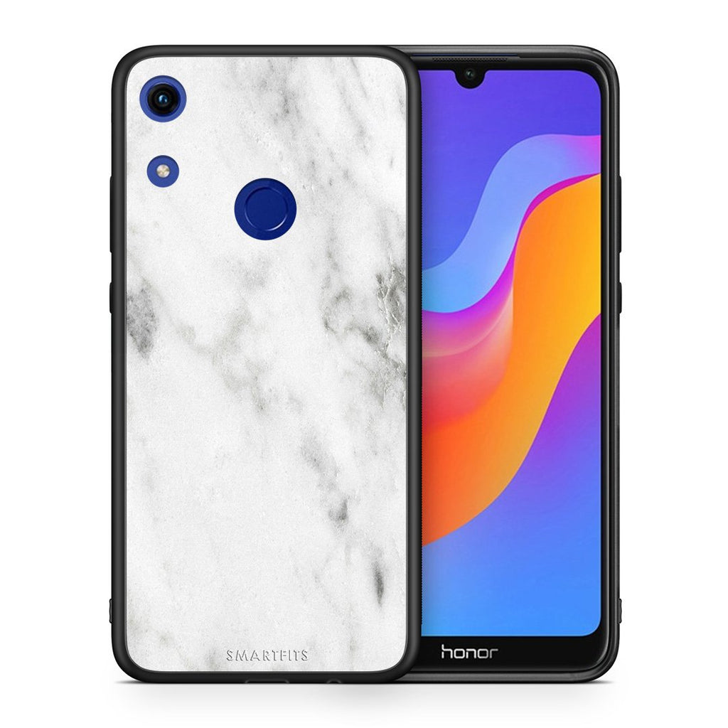 2 - Huawei Honor 8A  White marble case, cover, bumper
