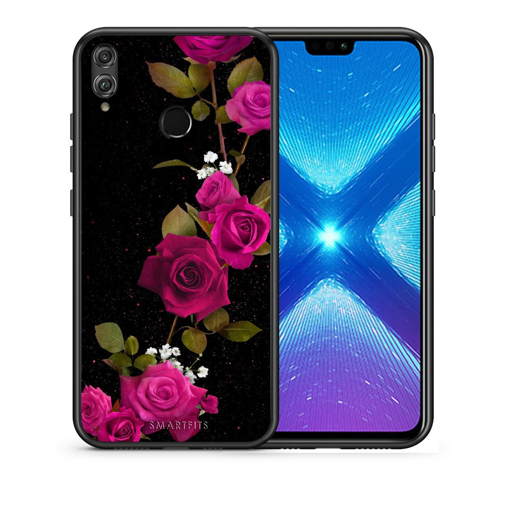 4 - Huawei Honor 8X Red Roses Flower case, cover, bumper