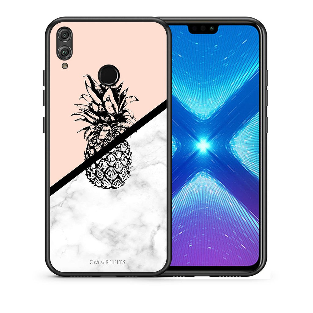4 - Huawei Honor 8X Pineapple Marble case, cover, bumper