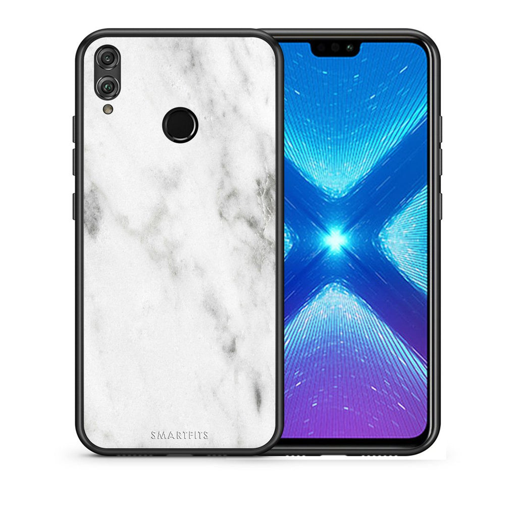 2 - Huawei Honor 8X White marble case, cover, bumper
