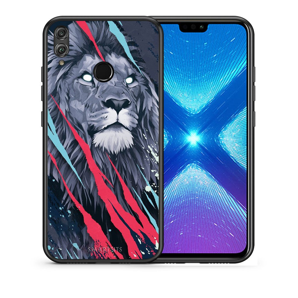 4 - Huawei Honor 8X Lion Designer PopArt case, cover, bumper