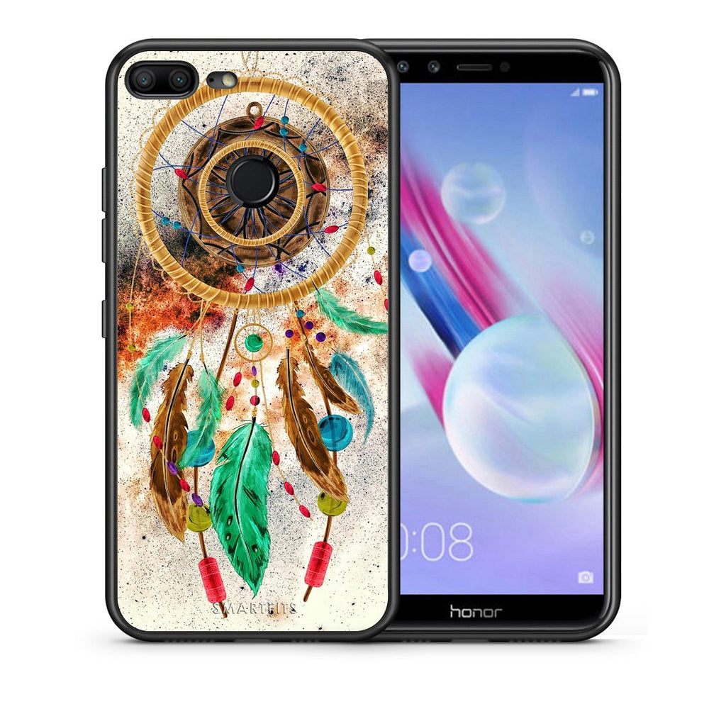 Θήκη Honor 9 Lite DreamCatcher Boho από τη Smartfits με σχέδιο στο πίσω μέρος και μαύρο περίβλημα | Honor 9 Lite DreamCatcher Boho case with colorful back and black bezels