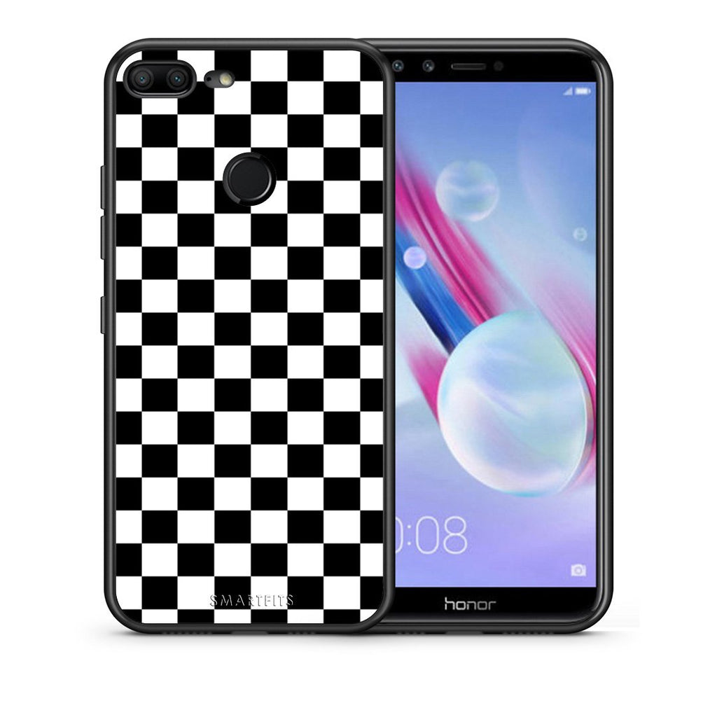 4 - Huawei Honor 9 Lite Squares Geometric case, cover, bumper