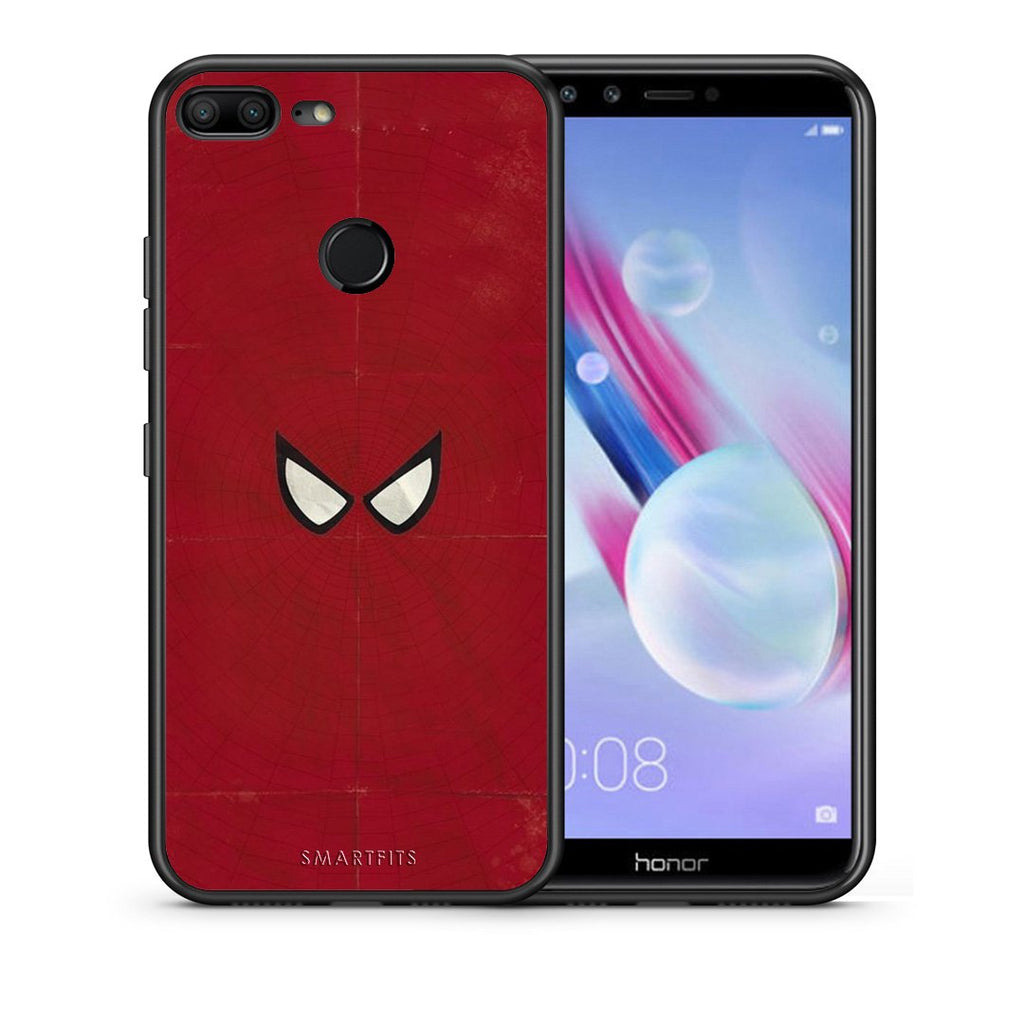 Θήκη Honor 9 Lite Spider Eyes Hero από τη Smartfits με σχέδιο στο πίσω μέρος και μαύρο περίβλημα | Honor 9 Lite Spider Eyes Hero case with colorful back and black bezels