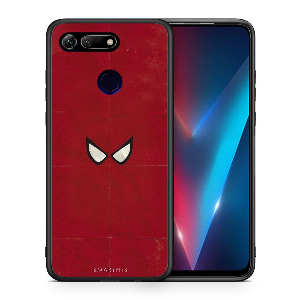 Θήκη Honor View 20 Spider Eyes Hero από τη Smartfits με σχέδιο στο πίσω μέρος και μαύρο περίβλημα | Honor View 20 Spider Eyes Hero case with colorful back and black bezels