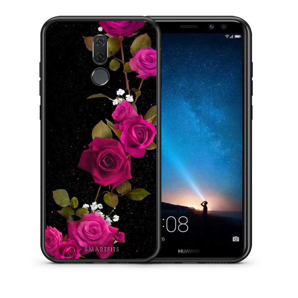 4 - huawei mate 10 lite Red Roses Flower case, cover, bumper