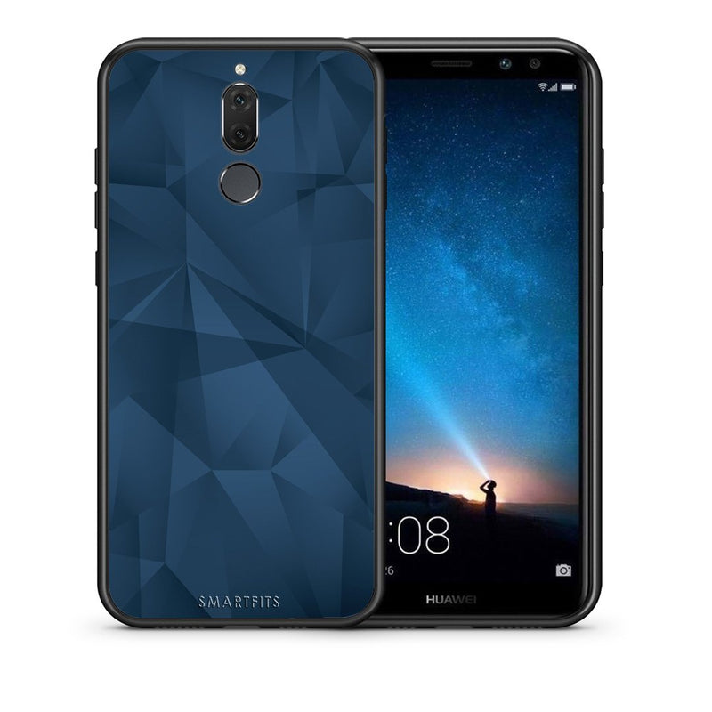 Θήκη Huawei Mate 10 Lite Blue Abstract Geometric από τη Smartfits με σχέδιο στο πίσω μέρος και μαύρο περίβλημα | Huawei Mate 10 Lite Blue Abstract Geometric case with colorful back and black bezels